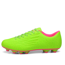 New Boys Kids Children Mens Football Boots Light Weight Soccer Shoes Cleats Outdoor Grass Ground FG Football Shoes Size 31-44