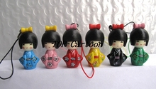 Free Shipping 6 pcs/set Japanese Girl key chains Cartoon Action Figures Cell Phone Strap Charms  S-80