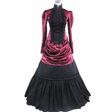 gothic lolita dress adult halloween costumes for women party victorian dress medieval Evening Prom Dress renaissance ball gowns