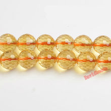 "Fctory Price Yellow Faceted Citrines Quartz Beads 15"" Strand 6 8 10 mm Pick Size For Jewelry Making diy"