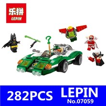 New Genuine Batman Movie Series LEPIN 07059 282Pcs The Riddler Riddle Racer Set 70903 Building Blocks Bricks Education Toys Gift(China)