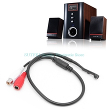 Sensitive Audio Pickup Mic Microphone Cable For CCTV Security Monitor DVR Camera High Quality(China)