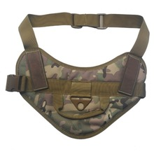Pet Dog Adjustable Harness Nylon Rope Handle Puppy Army Tactical Molle Vest Military Clothes Nylon Service Canine Harness