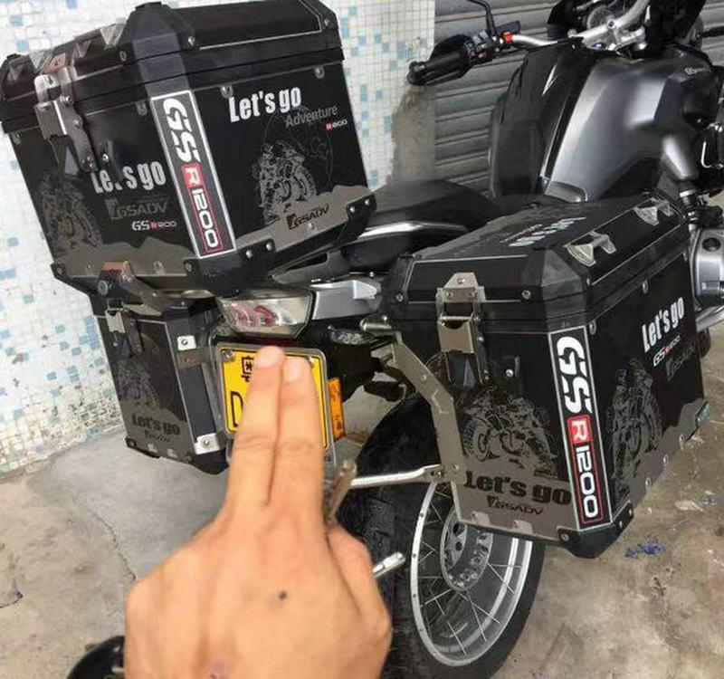 R1200GS ADV 3 x Pannier Black Go Adventure Protector Cover Sticker Decal Set Suitable Suitable for BMW boxes black