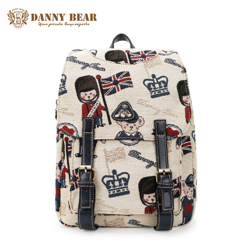 DANNY BEAR Women Casual Backpacks White Large Capacity Back Pack Bags For School/Travel Korean Style Backpack For Teenager Girls<br>