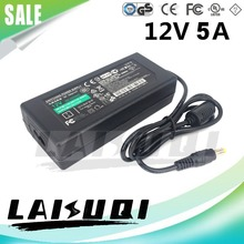 1pcs 12V 5A power Adapter for led strip 5050 3528 5630 3014 12V5A 60W AC DC adaptor power supply for LCD Monitor 100V-240V