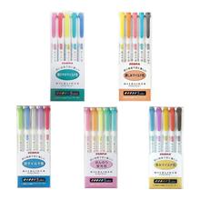 25 Colors Zebra Mildliner Double-Sided Highlighter Pen Set 5 Type Japanese Stationery