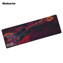 Babaite 900*300 MM Mouse pad CO GO large Keyboard Mat Anti-slip Natural Rubber Speed Mouse pads Professional Quality Diy Custom