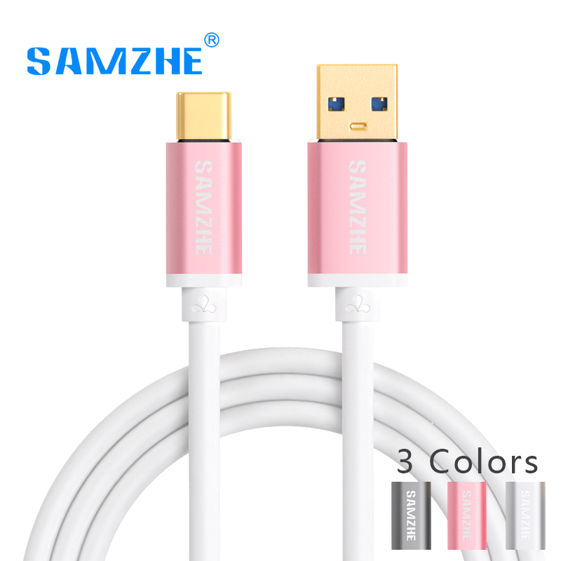 SAMZHE USB Type C Cable Cellphone USB C Reversible Type-C Fast Charging Cable Xiaomi Mi 4C Mi5 4s OnePlus 2 Nexus 5 5X 6P