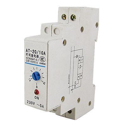 0.1-10s DIN Rail Mechanical Programmable Timer Switch 220V AC 5A Time Relay<br><br>Aliexpress