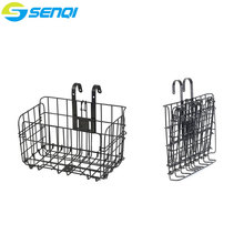 Bicycle Folding Basket Mountain Bike Folding Bike Front and Rear Basket Cycling Steel Bicycle Parts(China)