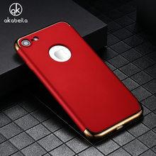 Buy AKABEILA Hard Phone Cases Cover Apple iPhone 7 7G iphone7 A1660 A1778 iPhone7G 4.7 inch Covers Matte Phone Bag Plating Back for $2.38 in AliExpress store
