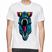 summer hot new design print  fancy dino t-shirt cotton men's 3d t shirt tops