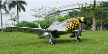 RC toy warbird plane model TOPRC Mini P51D P-51D Mustang PNP