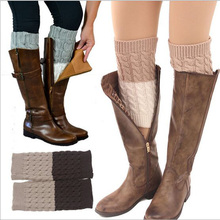 2016 New Fashion Patch Knit Long Leg Warmer Women Boot Cuffs Socks Legwarmers Women SK80012+40