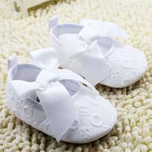 Baby Girl Prewalker Shoes Bowknot Embroidered White Soft Sole Princess Infant Toddler Girl Shoes First Walkers Sapato Menina