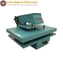 "380V New Style 30"" x 41"" Pneumatic Flat Heat Press Machine with Single Working Table Draw Motion for T-shirts, cloth, pants"