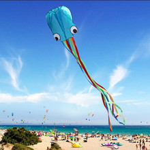 Creative 4M Large 3D Cartoon Octopus Kite Single Line Stunt /Software Power Children Outdoor Kite with 30m Kite String Outdoor(China)