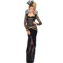 FGirl Halloween Costumes for Women Sexy Adult New Year Costume One Size Deluxe Evil Queen Costume FG10903