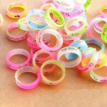 4pcs/lot Multicolor Anti-slip letter Ring Silicon Finger Ring Vape Band Covering Rubber Ring For Mechanical Mod comfortable feel