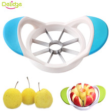 Delidge 1pc Apple Cutter Creative Diameter 9cm Slicer Plastic+Stainless Steel Pear Apple Fruit Cutter Knife Cortador Kitchenware(China)