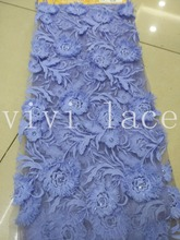 XH822 milk fiber sequin embroidery  mesh tulle african lace fabric for wedding dress/evening dress,ship by dhl
