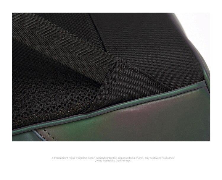 Õliselt läikiv must seljakott