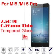 0.26mm 2.5D 9H Hardness Tempered Temper Glass Phone Cell Front Film Screen Protector Guard Protective For Xiaomi Mi5 /Mi 5 Pro