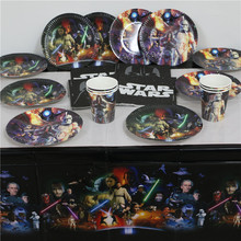 star wars birthday decorations kids boys event party supplies disposable plates cups napkins map tablecover 61pcs for 20people