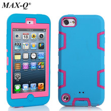 MAX-Q Case Cover For Apple iPod Touch 5 5th Generation Shockproof Hybrid Armor Rubber Heavy Duty Silicon + PC Phone Cases