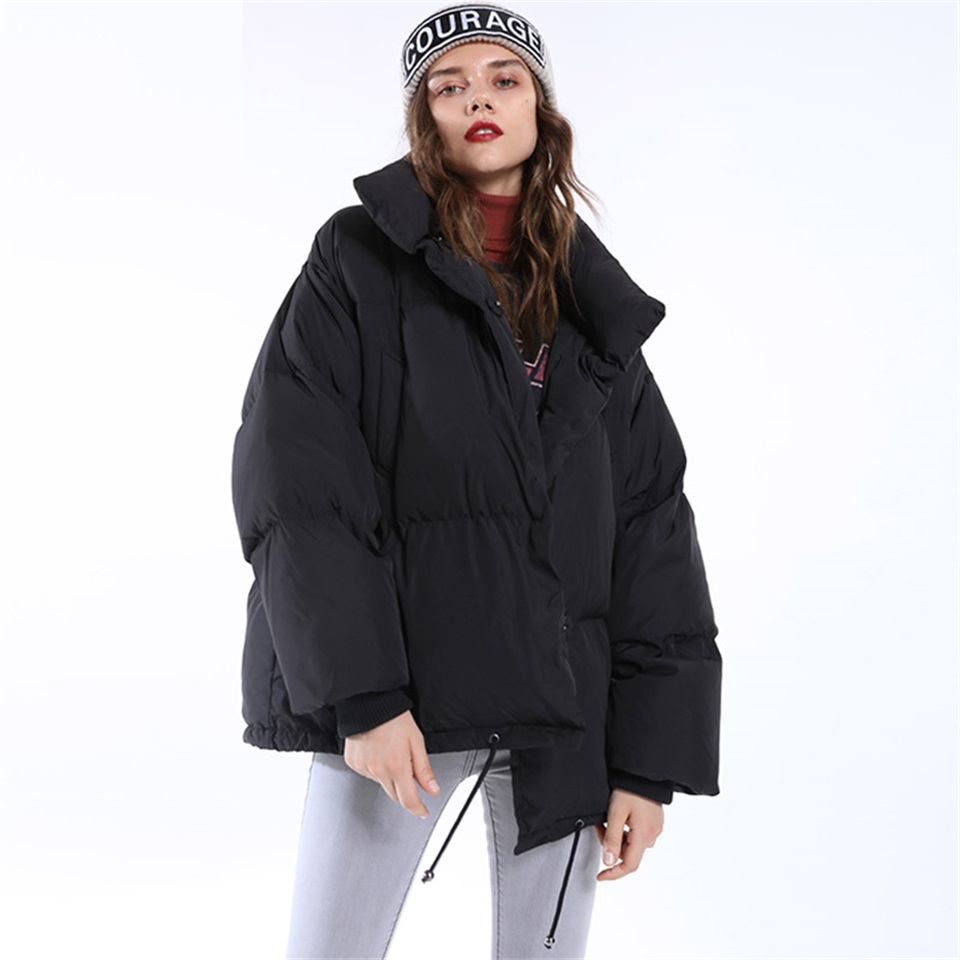 Autumn Winter Jacket Women Parkas Mujer 19 Fashion Coat Loose Stand Collar Jacket Women Parka Warm Casual Plus Size Overcoat 8