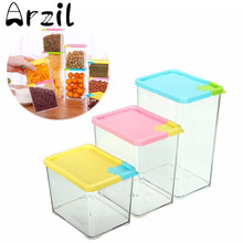 530/800/1070ml Kitchen Food Storage Box Cereal Grain Bean Holder Rice Nut Storage Container Home Kitchen Storing Tools Houseware
