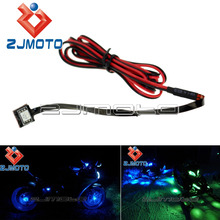 1 Piece 12V Blue LED Motorcycle Accent Under String Light Glow Neon Street Sport MSX125 Show Bike Light R1 R6 YZF GSXR ZX