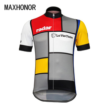 men cycling jersey yellow red ciclismo ropa black bike jersey cycling top red clothing jersey customized maxhonor(China)