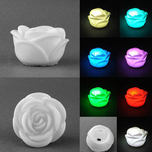 LED Romantic Rose Flower Color changed Lamp LED night lights