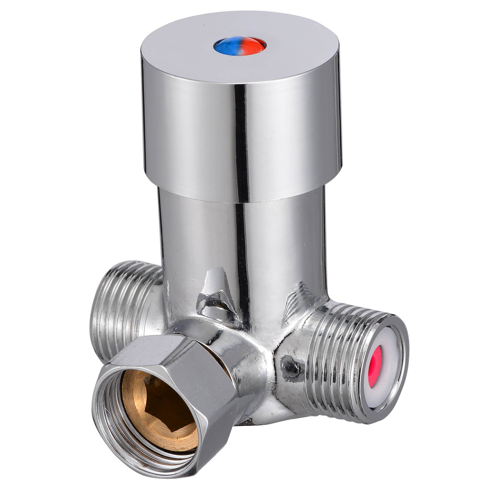 Bathroom Hot Cold Water Valver Temperature Adjustable Thermostatic Mixer Mixing Valve Sensor Tap for Shower Head Faucet Taps