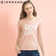 Giordano Women Tshirt Short Sleeve Tee Shirt Women Soft Cotton Women's T-Shirt Funny T Shirts Female