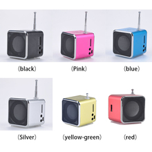 1pcs Mini LED Music Stereo Media Speaker Music Player FM Radio USB Micro SD TD-V26 For iPhone