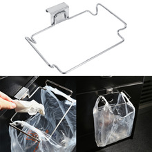 Creative Garbage Bag Rack Back Door Stainless Steel Trash Bag Hanging Rack Shelf Storage Hook Kitchen Cabinet