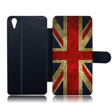 Leather Card Case for Oppo R9s Plus British Uk Flag Paint Custom Shockproof Protective Stand Cover for Oppo R9s R11(China)