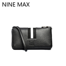 2016 New Designer B Letter White Stripes Male PU Leather  Wallet Luxury Concise Zipper Handbag Tasteful Patchwork Clutch Bag