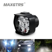 2x 15W Motorcycle Led Car External Scooters Headlight 1500LM 8-85V Fog DRL Spotlight Hunting Driving Work Light Kit Waterproof