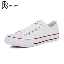 RenBen Flats Casual Shoes Women Fashion Canvas Lightweight Loafers Female Shoes Woman Durable Oxford Shoes chaussures femme(China)