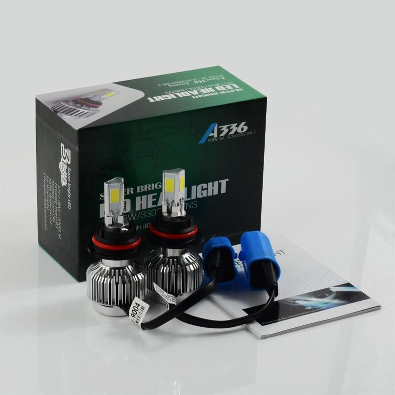New All In One A336 9004 Hi/Lo Car Led Headlight Fog Lamp 3 COB 3300LM 6000K Car Lighting Bulb<br><br>Aliexpress