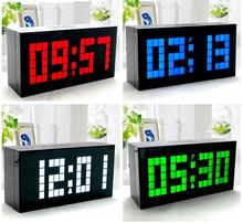 2016 New Modern Design  LED Digital Wall Clock Table Desk Alarm Clock Thermometer Date Timer Countdown Snooze Second Generation