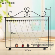 High Quality Metal Necklace Display Rack Bracelet Display Stand Pendant Showcase Jewelry Hanging Showing Props