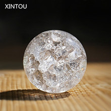 XINTOU Crystal Ice Crack Ball Home Decorative Glass Marbles Water Fountain Humidifie Ball Feng shui fountains Magic sphere Balls(China)