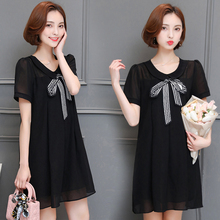 Make summer fat younger sister the plus-size women's fertilizer jins fat mm loose chiffon dress