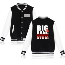 BigBang Harajuku Hip Hop Hoodies Women & Men Baseball Jacket New Arrivals K-POP Sweatshirt Brand Clothing Moletom Masculino