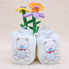1 Pairs Cartoon Baby Infant Boys Girls Anti Scratch Mittens Soft Newborn Rope Thickness Gloves Gift XL60(China)